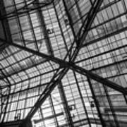 Liverpool Street Station Glass Ceiling Abstract Art Print