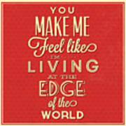 Living At The Edge Art Print