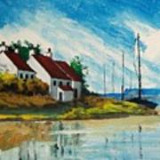 Living At The Mouth Of The White Oak River Art Print