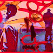 Living Cutouts Drifting Into The Spirit World/we Are All Born Asleep Art Print