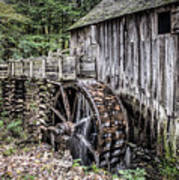 Cable Mill Gristmill - Great Smoky Mountains National Park Art Print