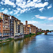 Living Next To The Arno River Art Print