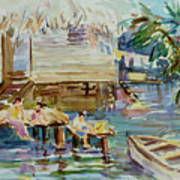 Living On The Water Art Print