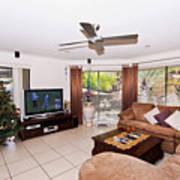 Living Room At Christmas Art Print