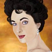 Liz Taylor Art Print