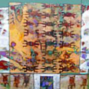 Lizard Abacus Art Print