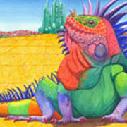 Lizard Of Oz Art Print