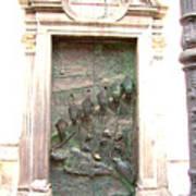 Ljubljana Bronze Church Door Art Print