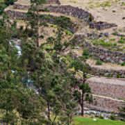 llactapata Site and Urubamba River Art Print