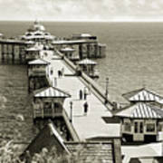 Llandudno Pier North Wales Uk Art Print