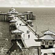 Llandudno Pier North Wales Uk Art Print