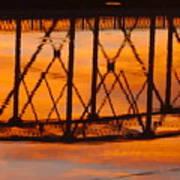 Llano Bridge Reflection Art Print