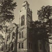 Llano County Courthouse - Vintage Art Print
