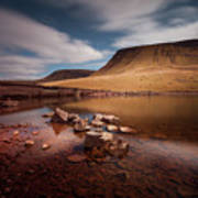 Llyn Y Fan Fach Black Mountain Art Print