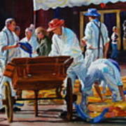 Loading The Cart Art Print