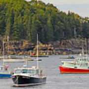 Lobster Boats In Bar Harbor Art Print