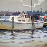 Lobster Boats In Shark River Art Print