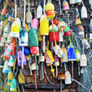 Lobster Buoys And Nets - Maine Art Print