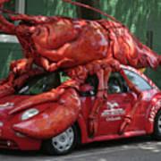Lobster Car Art Print