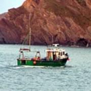 Lobster Fishing Boat Art Print