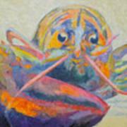 Lobster On The Loose  Art Print by Robin Wiesneth