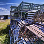Lobster Traps In The Sun Art Print