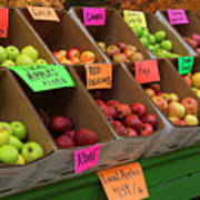 Local Apples For Sale Art Print