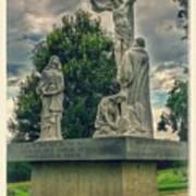 Local Cemetery Statue Art Print