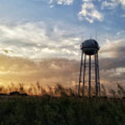 Local Water Tower  Art Print