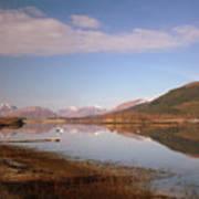 Loch Leven And Morvern Hills Winter2 Art Print