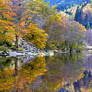 Loch Lubnaig In Autumn Art Print