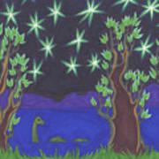 Loch Ness Night Art Print