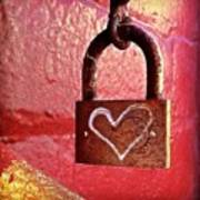Lock/heart Art Print by Julie Gebhardt