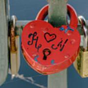 Locked Love Art Print