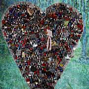 Locket Heart-3 Art Print