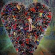 Locket Heart-6 Art Print