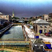 Lockport Canal Locks Art Print