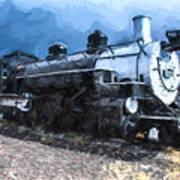 Locomotive 495 A Romantic View Art Print