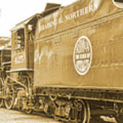 Locomotive And Coal Car Of Yesteryear Art Print