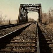 Locomotive Truss Bridge Art Print