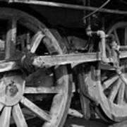 Locomotive Wheels Art Print