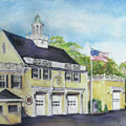 Locust Valley Firehouse Art Print