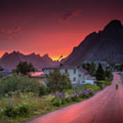 Lofoten Nightlife  Art Print