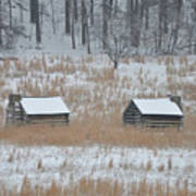 Log Cabins In Valley Forge Art Print
