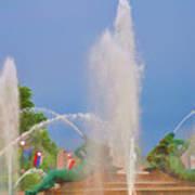 Logan Circle Fountain 2 Art Print