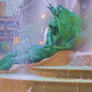 Logan Circle Fountain 5 Art Print