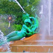 Logan Circle Fountain 6 Art Print