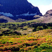 Logans Pass In Glacier National Park Art Print