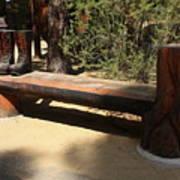 Logger Bench In Oregon Art Print