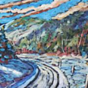 Loggers Road  Art Print
